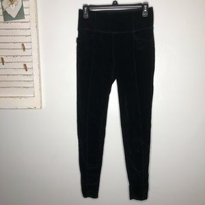 Athleta Ribbed Full Length Athletic Pants Medium